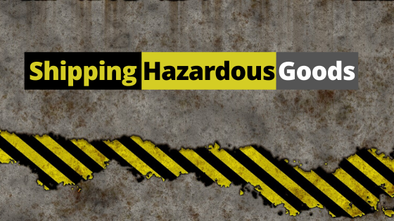 Shipping Hazardous Goods Banner