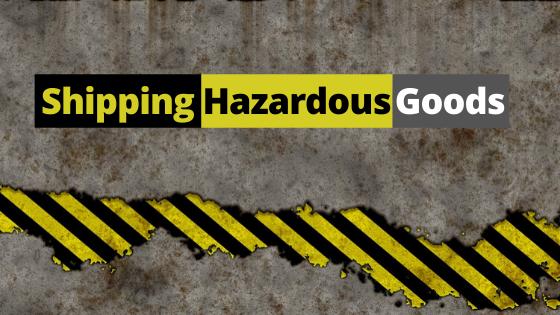 Shipping Hazardous Goods Banner