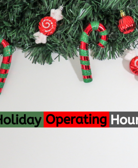 Holiday Operating Hours Banner